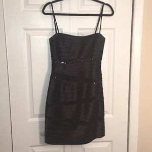 BCBGMAXAZRIA Black Strapless Mini Dress